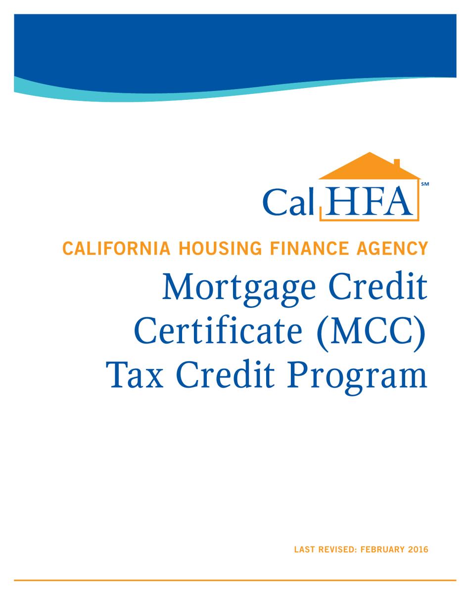 credit certificate mortgage mcc tax program california handbook templateroller