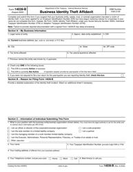 "IRS Form 14039-B ""Business Identity Theft Affidavit"""