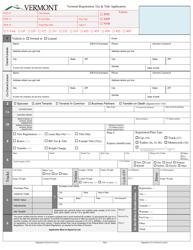 "Form VD-119 ""Vermont Registration Tax & Title Application"" - Vermont"