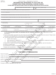 "Form G-6 ""Information Required to File for an Exemption From General Excise Taxes"" - Hawaii"