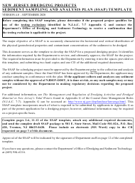 """""""Sediment Sampling and Analysis Plan (Ssap) File Number Request Form"""" - New Jersey"""