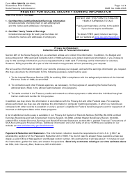 """Form SSA-7050-F4 """"Request for Social Security Earning Information"""""""