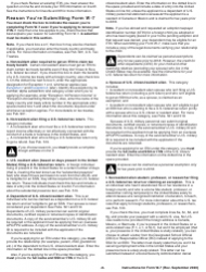 """Instructions for IRS Form W-7 """"Application for IRS Individual Taxpayer Identification Number"""", Page 8"""