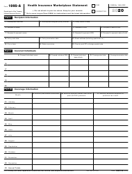 """IRS Form 1095-A """"Health Insurance Marketplace Statement"""", Page 2"""