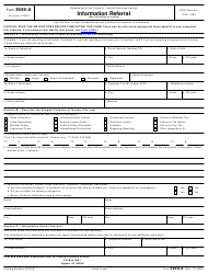 """IRS Form 3949-A """"Information Referral"""""""