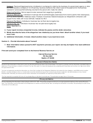 """IRS Form 3949-A """"Information Referral"""", Page 3"""