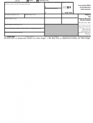 """IRS Form 5498-ESA """"Coverdell Esa Contribution Information"""""""