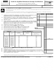 """IRS Form 8880 """"Credit for Qualified Retirement Savings Contributions"""""""
