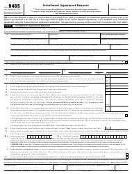 "IRS Form 9465 ""Installment Agreement Request"""