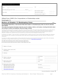 """Official Form 309F2 """"Notice of Chapter 11 Bankruptcy Case (For Individuals or Joint Debtors Under Subchapter V)"""""""