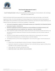 "Form 05-21-010 ""Test Security Agreement Level 3"" - Alaska, 2021"