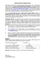 """Form TF-304 """"Audio Recording Request"""" - Alaska"""