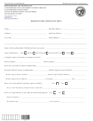 """Form CSD-001-P """"Request for Assistance (Rfa)"""" - California"""