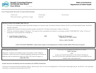 """Form STD-23 """"Sexually Transmitted Disease Confidential Case Report"""" - Connecticut"""