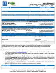 """Flexible Spending Account (FSA) Enrollment Agreement"" - Delaware, 2021"