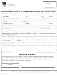 "Form P-2 ""Application for License of Pesticides and Non-chemical Pest Control Devices"" - Hawaii"