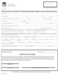 """Form P-2 """"Application for License of Pesticides and Non-chemical Pest Control Devices"""" - Hawaii"""