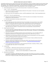"""Instructions for Form P-2 """"Application for License of Pesticides and Non-chemical Pest Control Devices"""" - Hawaii"""