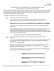 "Form HRD319B ""Hawaii Residency Requirement Acknowledgment Form"" - Hawaii"