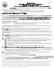 "Form HC-5 ""Employee Notification to Employer for Calendar Year"" - Hawaii, 2021"