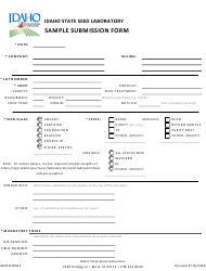 "Form ADMINFRM1 ""Sample Submission Form"" - Idaho"