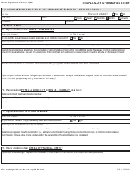 "Form CIS-U ""Complainant Information Sheet (For All Cases Not Related to Housing Discrimination)"" - Illinois, Page 3"