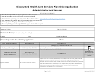 """Discounted Health Care Services Plan Only Application - Administrator and Insurer"" - Illinois"