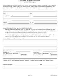 """""""Payment to Secondary Vendor Form"""" - Iowa"""