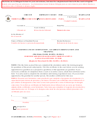 """Form CC-GN-031BLS """"Certificate of Completion - Guardian Orientation and Training"""" - Maryland (English/Spanish)"""