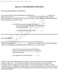 "Form FIS1057 ""Application for Permission to Merge a Credit Union With Another Credit Union"" - Michigan, Page 10"