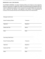 "Form FIS1057 ""Application for Permission to Merge a Credit Union With Another Credit Union"" - Michigan, Page 7"