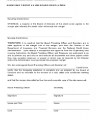 "Form FIS1057 ""Application for Permission to Merge a Credit Union With Another Credit Union"" - Michigan, Page 8"