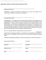 "Form FIS1057 ""Application for Permission to Merge a Credit Union With Another Credit Union"" - Michigan, Page 9"