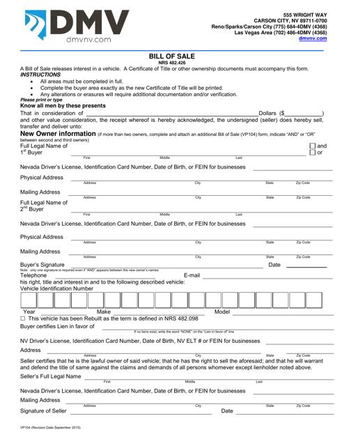Form VP104  Printable Pdf