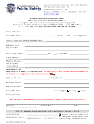 """Form 0501RCCD-003 """"E-Check Payment Processing Request"""" - Nevada"""