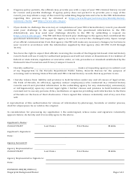 "Form 0505RCCD-003 ""Fingerprint Background Waiver"" - Nevada, Page 2"