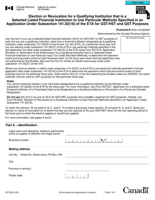 Form RC7222 Printable Pdf