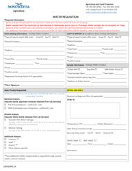 """Form LSAD100F2.25 """"Water Requisition"""" - Nova Scotia, Canada"""