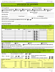 """BFA Form 800 """"Application for Assistance"""" - New Hampshire, Page 3"""