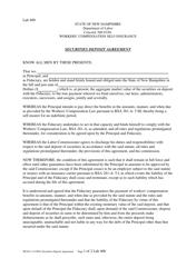 "Form LAB400 (WCSI-3) ""Securities Deposit Agreement"" - New Hampshire"