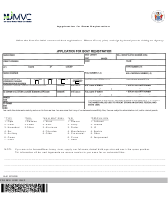 "Form BA-51 ""Application for Boat Registration"" - New Jersey"