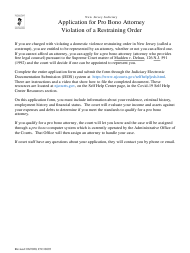 """Form 10693 """"Application for Public Defender (5a) - for Family Matters"""" - New Jersey (English/Spanish)"""