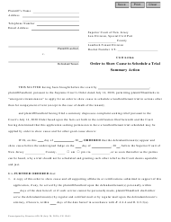 """Form 12651 """"Order to Show Cause to Schedule a Trial - Landlord/Tenant"""" - New Jersey"""