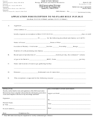 "Form C-129 ""Application for Exception to No-Flare Rule 19.15.18.12"" - New Mexico"