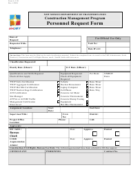 "Form A-1151 ""Personnel Request Form"" - New Mexico"