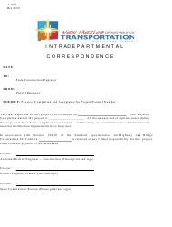 "Form A-1079 ""Final Acceptance Department"" - New Mexico"
