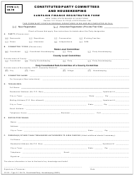 """Form CF-02 Type 3-7, 3H-7H """"Constituted/Party Committees and Housekeeping Campaign Finance Registration Form"""" - New York"""