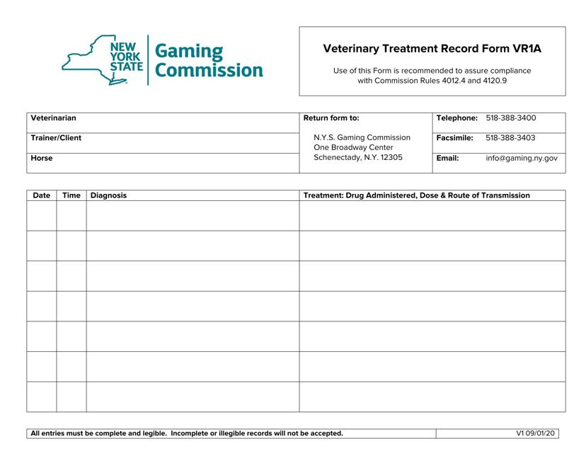 Form VR1A  Printable Pdf