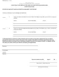 """Form OCFS-4716 """"Contractor Employee and Volunteer Background Certification"""" - New York"""