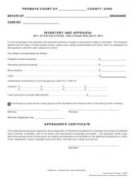 "Form 6.0 ""Inventory and Appraisal"" - Ohio"